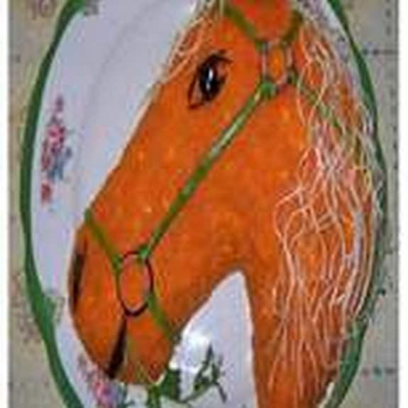 Новогодний салат 2014 года – Лошадь