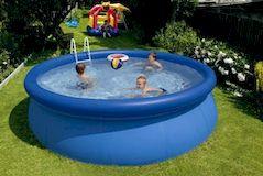 Мобильный бассейн на даче