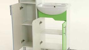 Шкаф пенал в ванной комнате. Эргономичность и современный дизайн